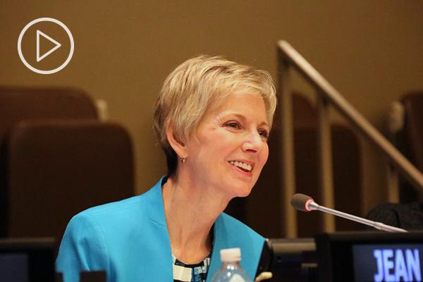 Jean B. Bingham speaks at UN