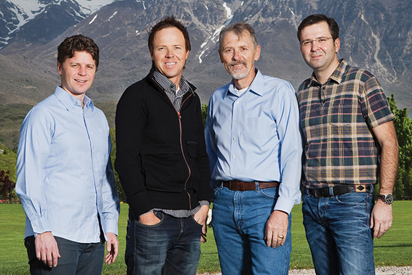 The founders of Qualtrics, including new Jazz owner Ryan Smith.